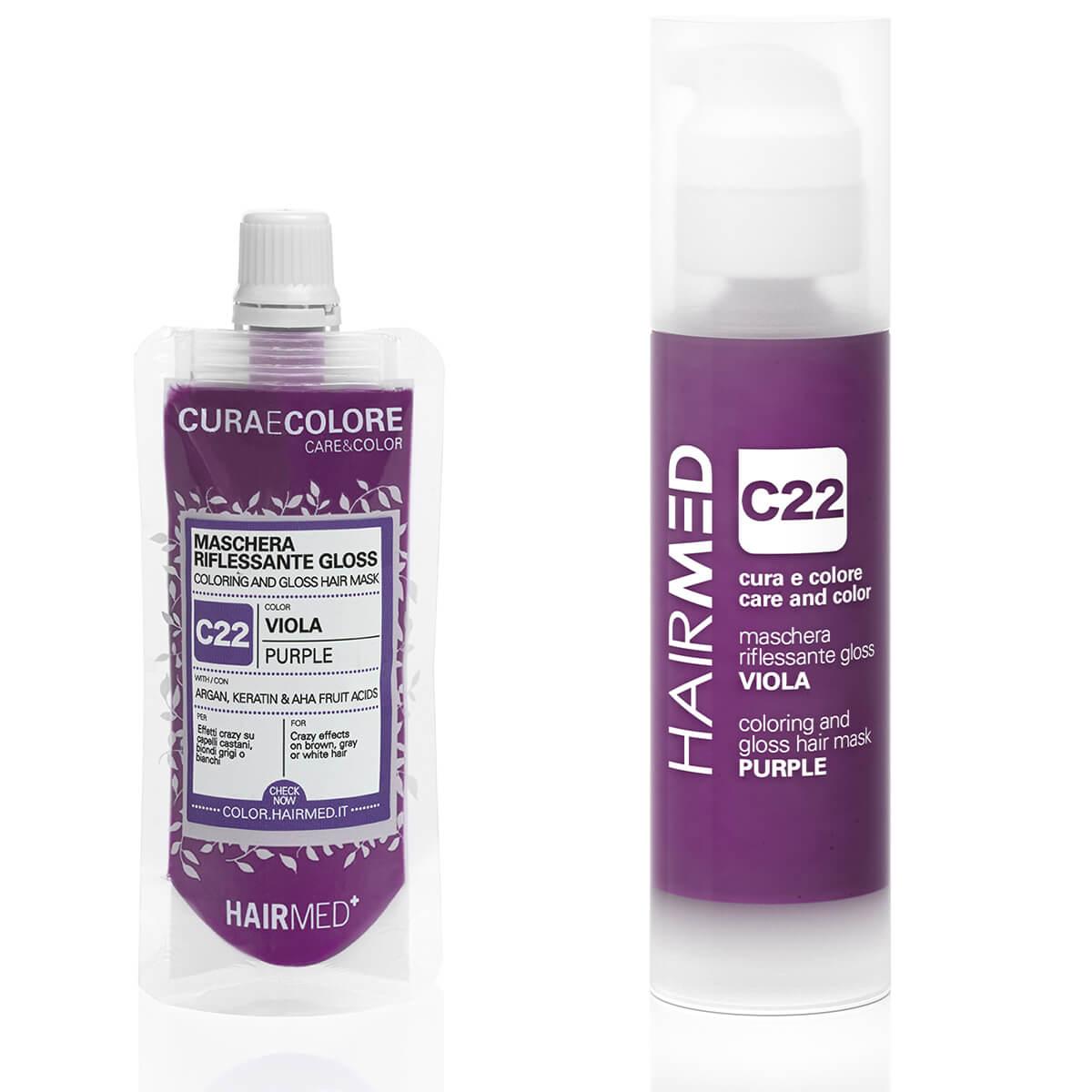 Come Creare Il Viola riflessante viola c22: sfoggia capelli color prugna - hairmed